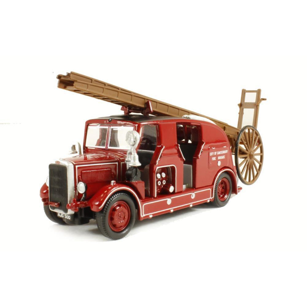 OXFORD 1/76 Leyland Cub FK7 Cit/Canterbury Fire - Hearns Hobbies Melbourne - Oxford