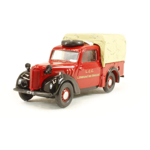OXFORD 1/76 Austin Tilly   London Fire Brigade - Hearns Hobbies Melbourne - Oxford
