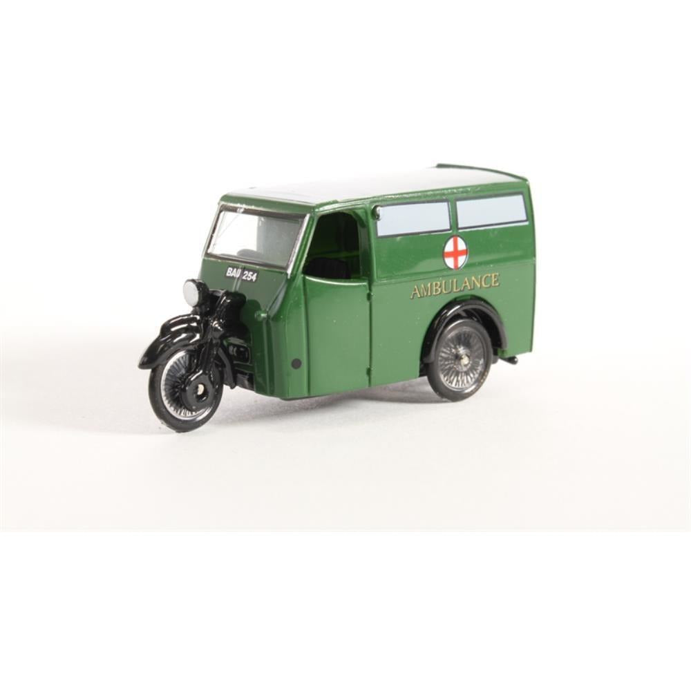 OXFORD 1/76 Tricycle Van Ambulance - Hearns Hobbies Melbourne - Oxford