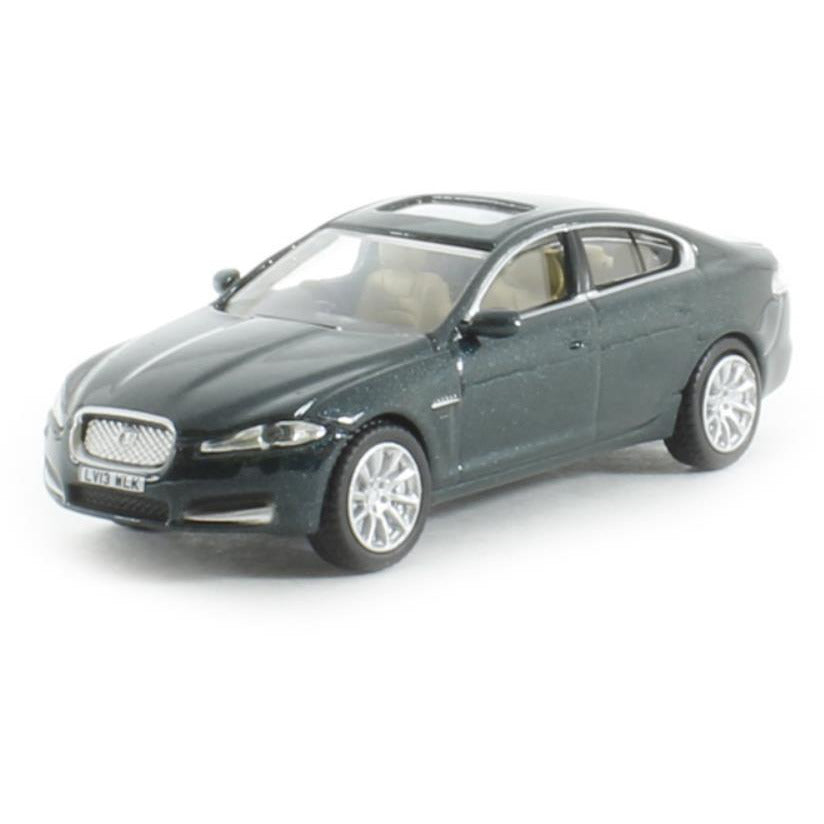 OXFORD 1/76 Jaguar XF British Racing Green - Hearns Hobbies Melbourne - Oxford