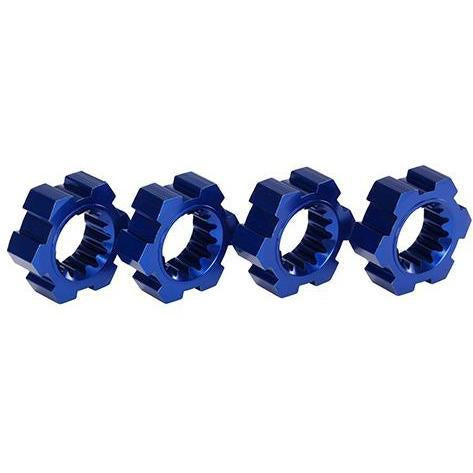 Image of TRAXXAS WHEEL HUBS, HEX, ALUM (BLUE-ANODIZED) (4) (7756X)