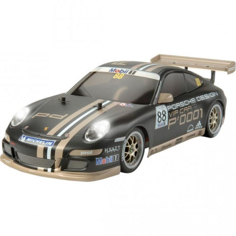 TAMIYA Porsche 911 GT3 CUP VIP 2007 RC Car 1:10 scale Body Parts Set, Pre Painted Black (Body only). (78-47365)
