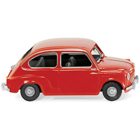WIKING Fiat 600 Hard Rf Red - Hearns Hobbies Melbourne - WIKING