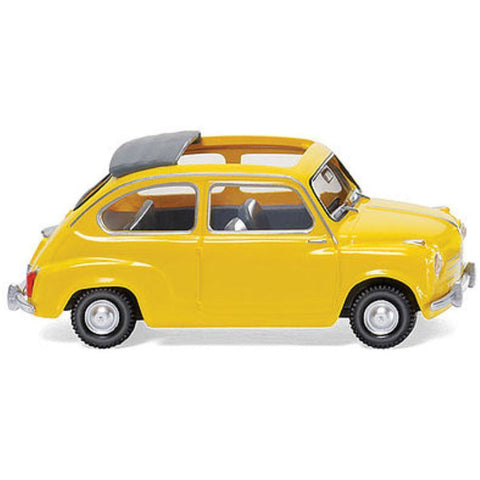 WIKING Fiat 600 Clth Rf Ylw - Hearns Hobbies Melbourne - WIKING