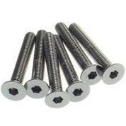 Hex Flat Screw M3x8  [S-Black]