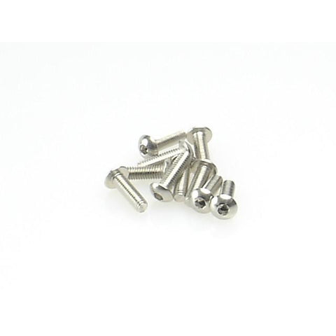 Stainless Steel Hex Button Screw M3x10