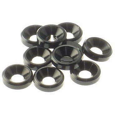 HIRO SEIKO 3mm Alloy Countersunk Washer[Black]
