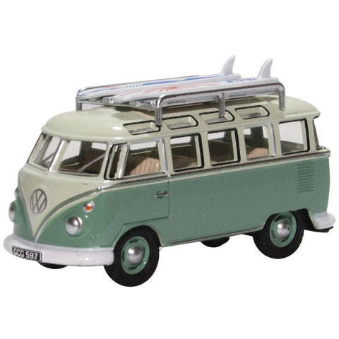 VW T1 SAMBA BUS/SURFBOARDS TURQUOISE/BLUE WHITE
