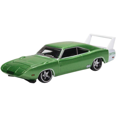 DODGE CHARGER DAYTONA 1969 BRIGHT GREEN/WHITE