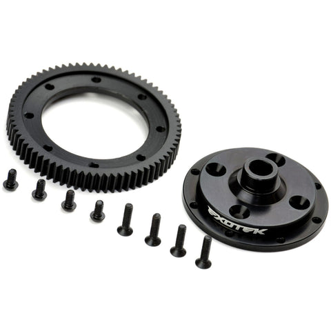 EXOTEK D418 Machined 72 Spur Gear and Mounting Plate