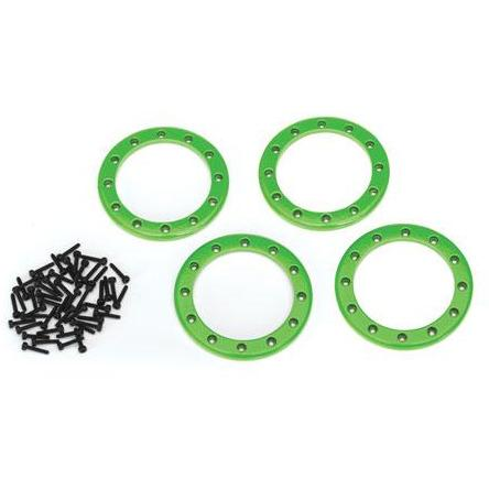 "Image of TRAXXAS Beadlock Rings, Green (2.2"") (8168G)"