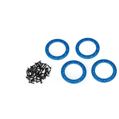 "Image of TRAXXAS Beadlock Rings, Blue (1.9"") (8169X)"