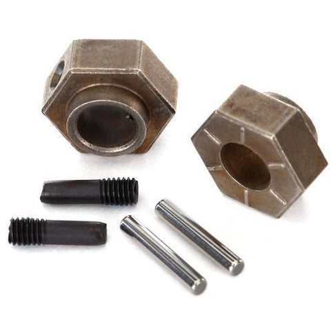 Image of TRAXXAS WHEEL HUBS, 12MM HEX (2)/ STUB AXLE PINS (2) (STEEL