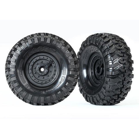 TRAXXAS TYRES & WHEELS, ASSEMBLED, GLUED (8273)