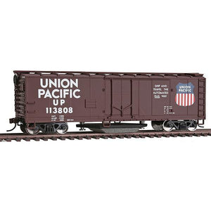 40' Plug-Door Track Cleaning Boxcar - Ready to Run -- Union Pacific(R) (Boxcar Red, white, Large Logo)