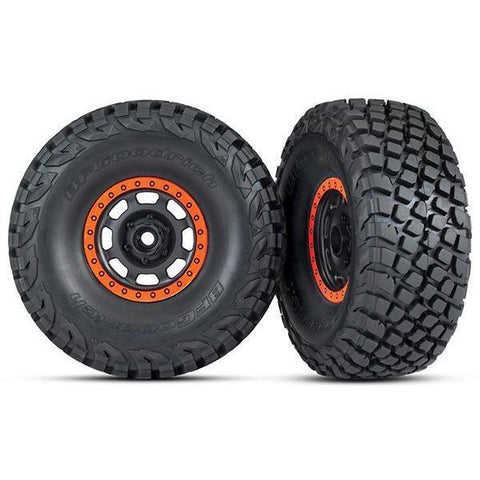 TRAXXAS TIRES AND WHEELS, ASSEMB GLUED (8472)
