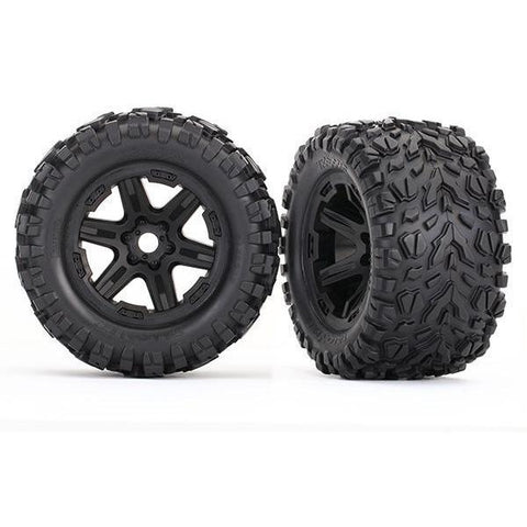 Image of TRAXXAS TIRES & WHEELS, ASSEMBLED, GLUED (8672)