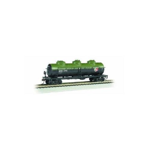 Image of BACHMANN HO 40' 3-Dome Tank Car - British Americal Oil