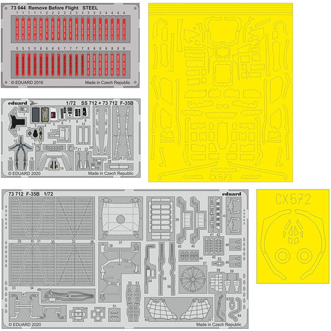 EDUARD BIG72159 1/72 F-35B Photo etch set (Academy) Big Ed