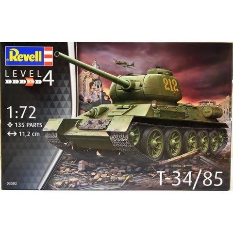 Revell T-34/85 1:72 - Hearns Hobbies Melbourne - REVELL KITS