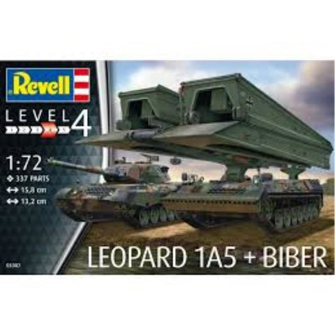 "REVELL 1/72 Leopard 1A5 & Bridgelayer ""Biber"" (95-03307)"
