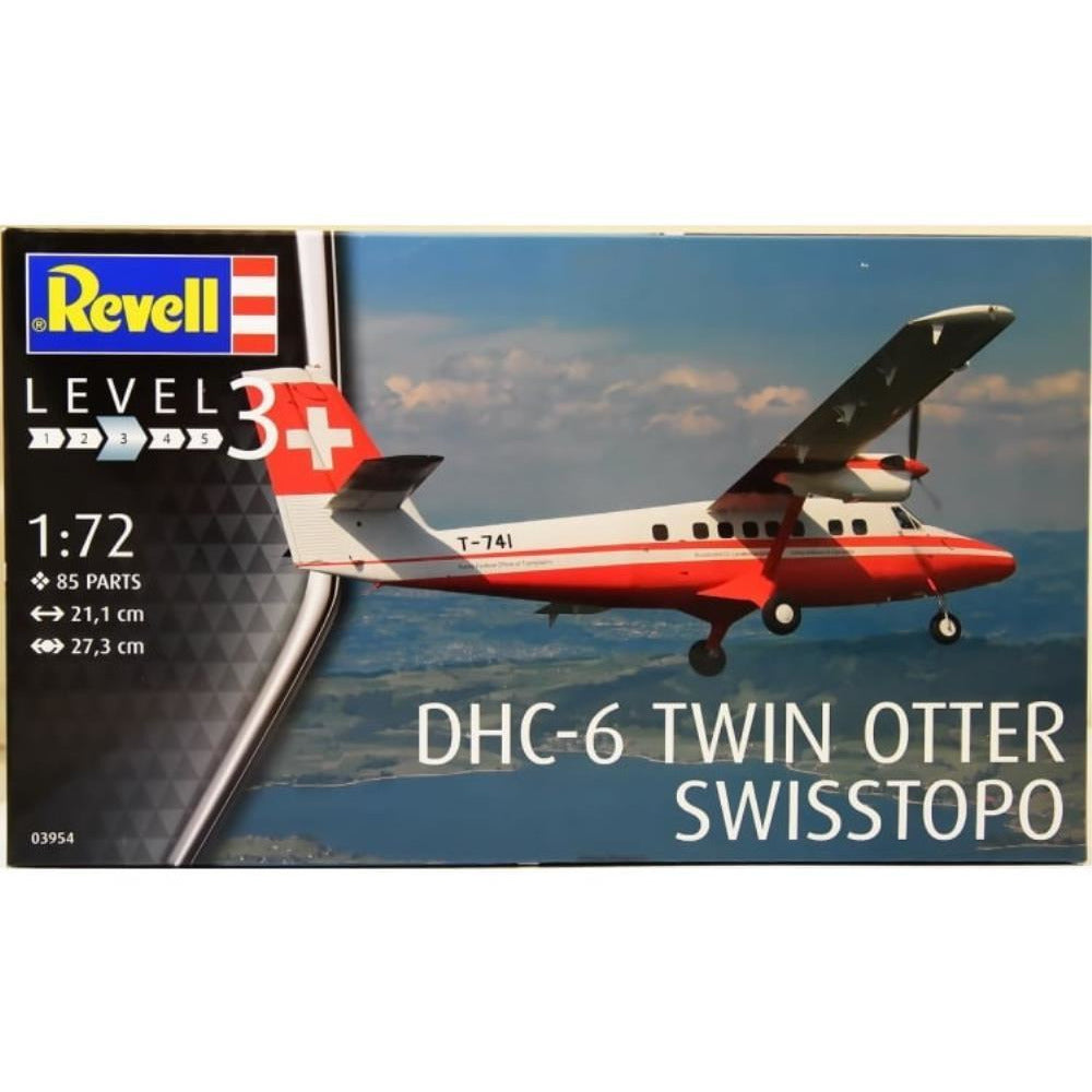 Revell DHC-6 TWIN OTTER SWISSTOPO 1:72 - Hearns Hobbies Melbourne - REVELL KITS
