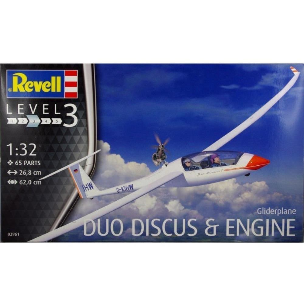 Revell GLIDER DUO DISCUS & ENGINE 1:32 - Hearns Hobbies Melbourne - REVELL KITS