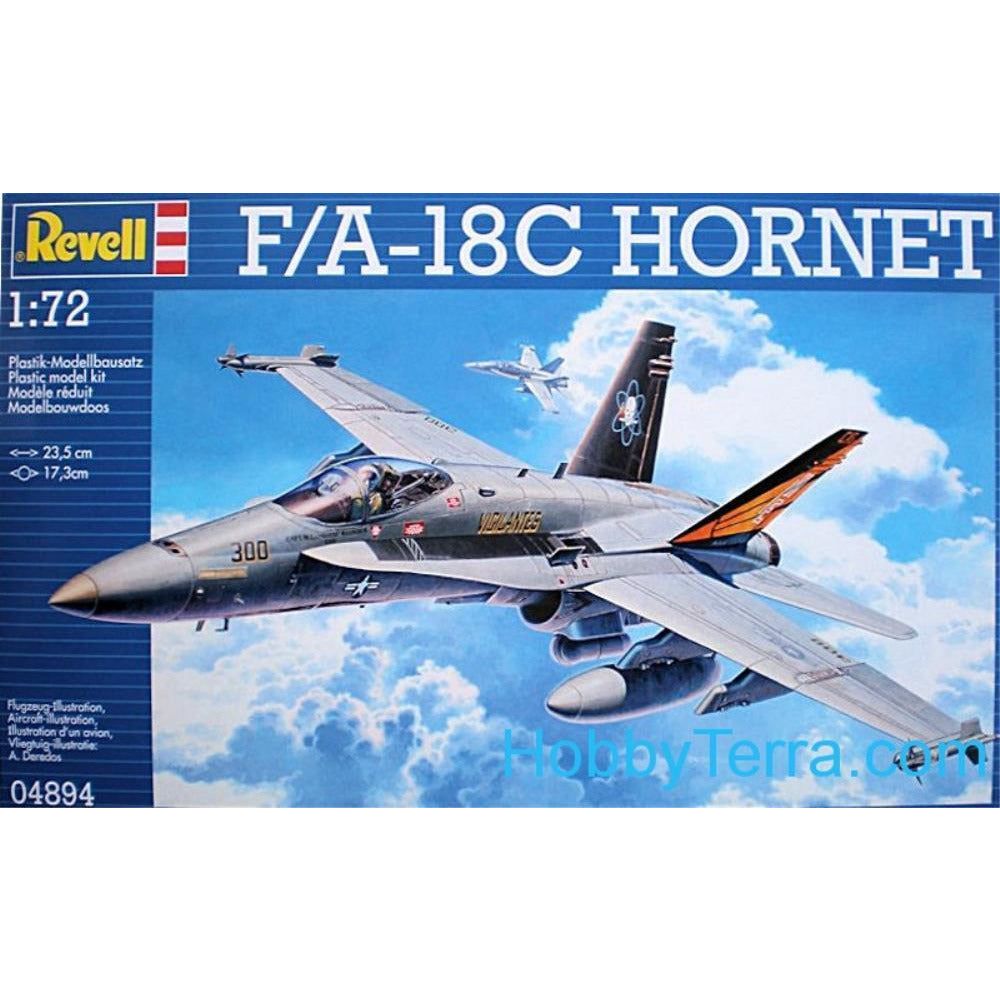 Revell F/A-18C HORNET 1:72 - Hearns Hobbies Melbourne - REVELL KITS