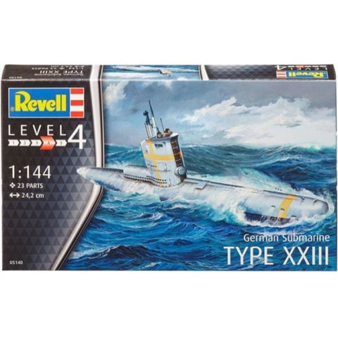 Revell GERMAN SUBMARINE TYPE XXIII 1/144 - Hearns Hobbies Melbourne - REVELL KITS