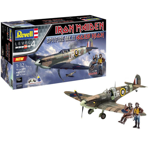 "REVELL GIFT SET SPITFIRE MK.II """"ACES HIGH"""" IRON MAIDEN"