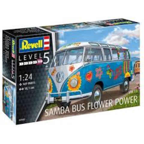 "REVELL 1/24 VW T1 Samba Bus ""Flower Power"" (95-07050)"