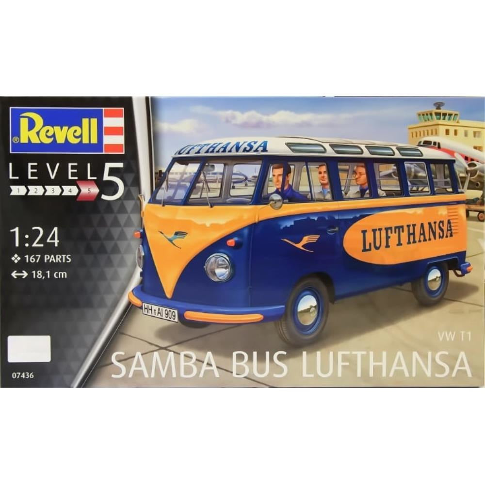 Revell VW T1 SAMBA BUS LUFTHANSA 1:24 - Hearns Hobbies Melbourne - REVELL KITS