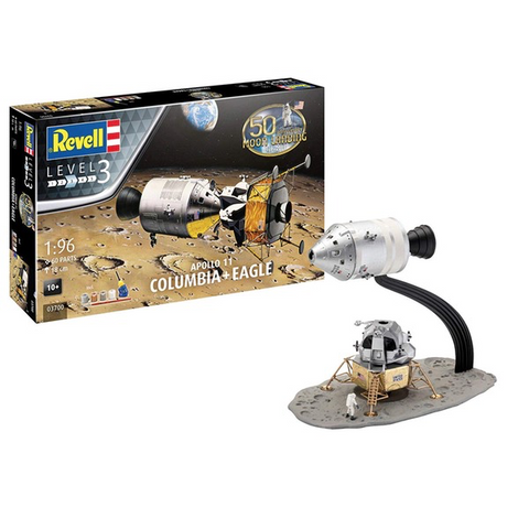 REVELL 1/96 Apollo 11 Columbia & Eagle 50th Anniversary