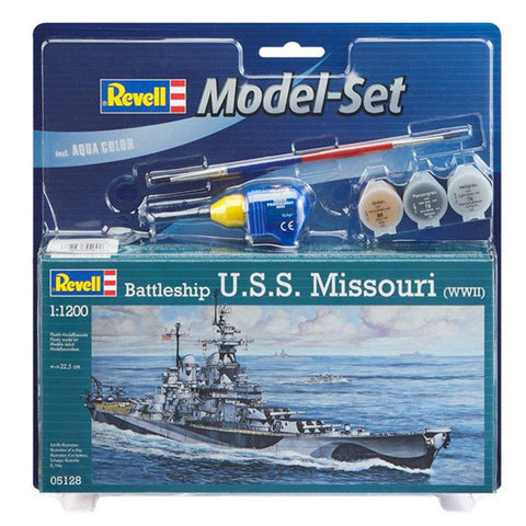 REVELL 1/1200 Model Set Battleship U.S.S. Missouri (95-6512