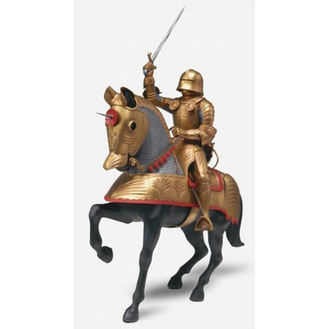 MONOGRAM GOLD KNIGHT W/HORSE 1:8
