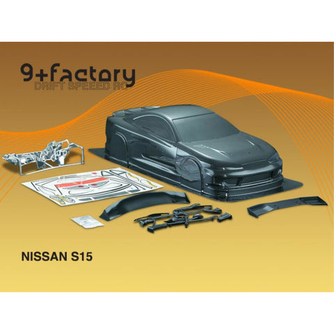9FACTORY 1/10 Nissan S15 Carbon Colour Body Shell