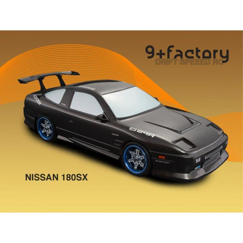 Image of 9FACTORY 1/10 Nissan 180 SX Carbon Colour Body Shell