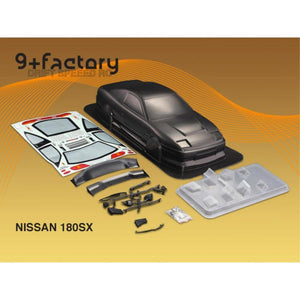 9FACTORY 1/10 Nissan 180 SX Carbon Colour Body Shell