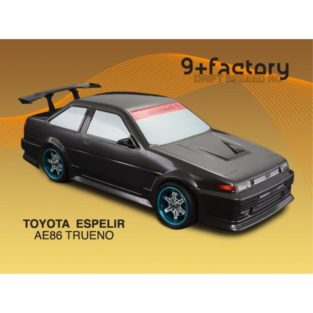 9FACTORY TOYOTAESPELIR AE86 TRUENO CARBON COLOURBODY SHELL