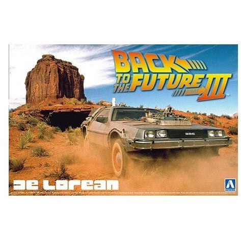 AOSHIMA 1/24 Back to the Future Delorean from Part III & RA