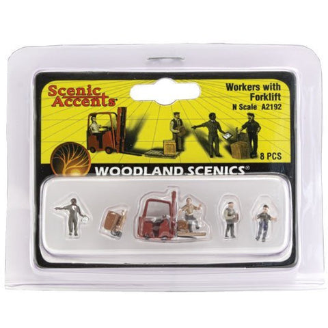 WOODLAND SCENICS N Workers With Forklift