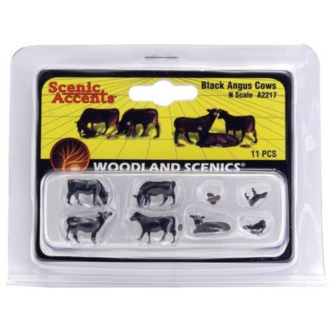 Image of WOODLAND SCENICS N Black Angus Cows