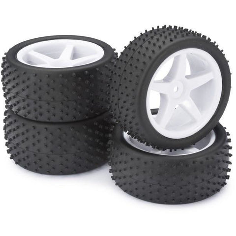 "ABSIMA Wheel Set Buggy ""5-Spokes / Dirt"" white 1:10 (4) (AB"