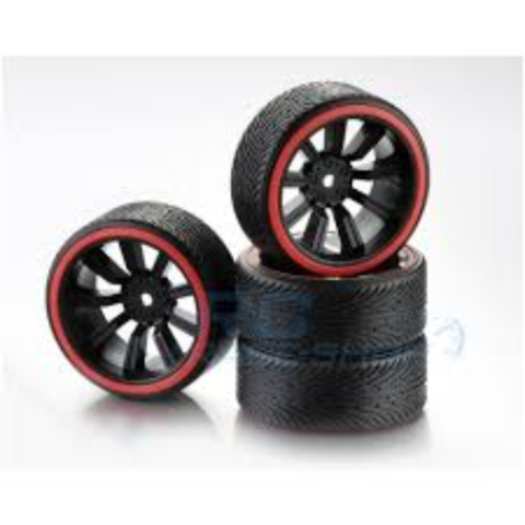 ABSIMA 1/10 WHEEL SET DRIFT 4PCS