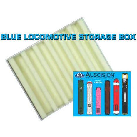 AUSCISION Blue Storage Box - Locomotive Box (Carton of 10)