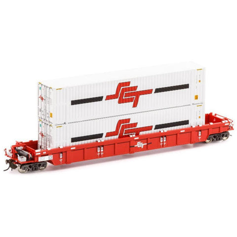 AUSCISION HO - PWWY Well Wagon SCT w/2x 48ft Containers - S