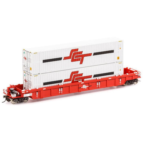AUSCISION PWWY Well Wagon SCT w/2x 48ft Containers - Single Car (ACM-SWW-8)