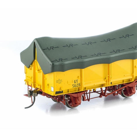 AUSCISION GY Wagon VR Hansa Yellow (w/Green Tarp) - 6 Car Pack (ACM-VFW33)