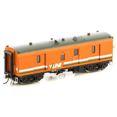 AUSCISION HO - CP Guards Van V/Line Orange & Grey - 2 Car P