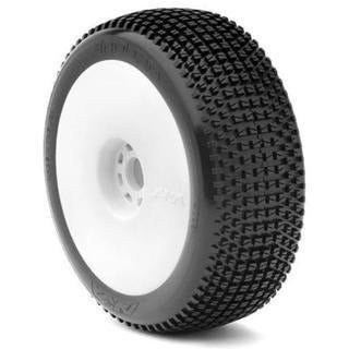 AKA 1:8 BUGGY ENDURO (SOFT) EVO WHEEL PRE-MOUNTED WHITE
